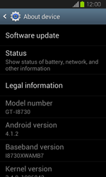Samsung Galaxy Express - Software - Installing software updates - Step 6
