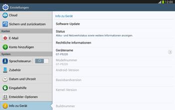 Samsung Galaxy Tab 3 10-1 LTE - Software - Installieren von Software-Updates - Schritt 6