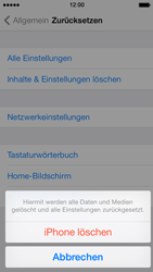Apple iPhone 5 mit iOS 7 - Fehlerbehebung - Handy zurücksetzen - Schritt 8