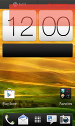 HTC One SV - Getting started - Installing widgets and applications on your start screen - Step 7