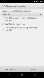 Sony Xperia V - E-mail - Configuration manuelle - Étape 14