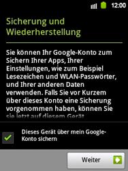 Samsung Galaxy Y - Apps - Einrichten des App Stores - Schritt 14