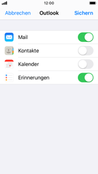 Apple iPhone SE - iOS 13 - E-Mail - Konto einrichten (outlook) - Schritt 8