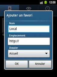 Samsung Galaxy Y - Internet et roaming de données - Navigation sur Internet - Étape 9