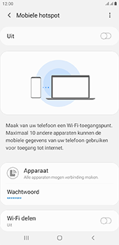Samsung Galaxy J4 Plus - Internet - mijn data verbinding delen - Stap 7