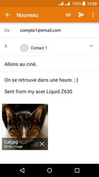 Acer Liquid Z630 - E-mail - envoyer un e-mail - Étape 14