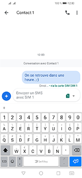 Huawei Y6 (2019) - Contact, Appels, SMS/MMS - Envoyer un SMS - Étape 10