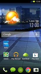 Acer Liquid E3 - E-mail - Configuration manuelle - Étape 1