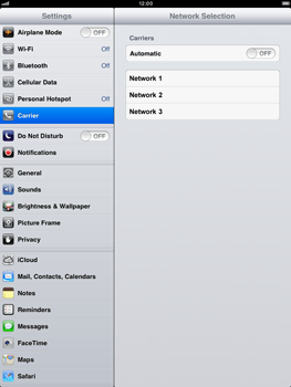 Apple iPad mini - Network - Manual network selection - Step 8