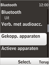 Nokia 6303i classic - Bluetooth - headset, carkit verbinding - Stap 6