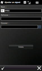 Samsung I8000 Omnia II - Internet - navigation sur Internet - Étape 12