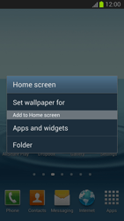 Samsung Galaxy S III - Getting started - Installing widgets and applications on your start screen - Step 3
