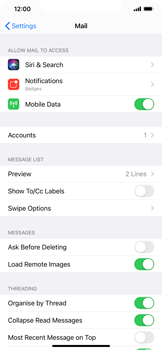 Apple iPhone XS Max - iOS 14 - E-mail - 032c. Email wizard - Outlook - Step 9