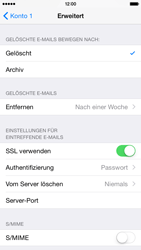 Apple iPhone 6 iOS 8 - E-Mail - Manuelle Konfiguration - Schritt 22