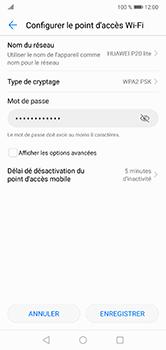 Huawei P20 lite - Internet et connexion - Partager votre connexion en Wi-Fi - Étape 8