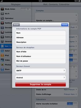 Apple iPad - E-mail - Configuration manuelle - Étape 13