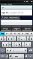 Sony Xperia Arc - E-mail - Envoi d