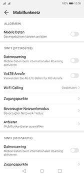 Huawei P20 - Android Pie - Internet und Datenroaming - Prüfen, ob Datenkonnektivität aktiviert ist - Schritt 5