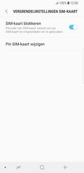 Samsung Galaxy S9 (SM-G960F) - Beveiliging en ouderlijk toezicht - Hoe wijzig ik mijn SIM PIN-code - Stap 7
