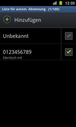 Samsung Galaxy Ace 2 - Anrufe - Anrufe blockieren - 12 / 13