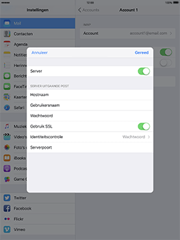 Apple iPad Pro 9.7 - iOS 10 - E-mail - e-mail instellen: IMAP (aanbevolen) - Stap 21