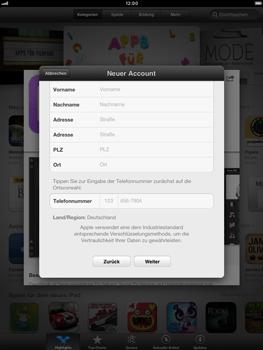 Apple iPad mini - Apps - Konto anlegen und einrichten - 0 / 0