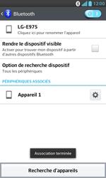 LG E975 Optimus G - Bluetooth - connexion Bluetooth - Étape 11
