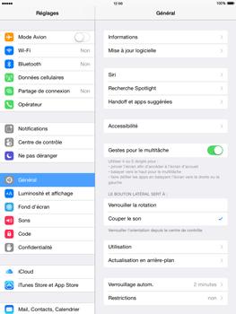 Apple iPad Air - iOS 8 - Téléphone mobile - Réinitialisation de la configuration d