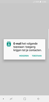 Samsung Galaxy S8 - Android Oreo - E-mail - handmatig instellen - Stap 5