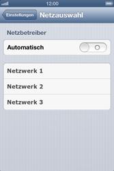 Apple iPhone 4S - Netzwerk - Manuelle Netzwerkwahl - Schritt 5