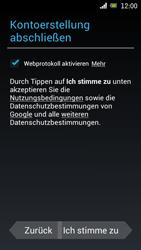 Sony Ericsson Xperia Ray mit OS 4 ICS - Apps - Konto anlegen und einrichten - Schritt 12