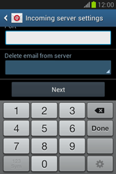 Samsung Galaxy Fame Lite - E-mail - manual configuration - Step 11
