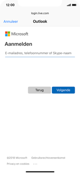 Apple iPhone X - iOS 12 - E-mail - e-mail instellen (outlook) - Stap 6