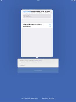 Apple iPad Pro 12.9 inch - iOS 11 - Automatisches Ausfüllen der Anmeldedaten - 6 / 7