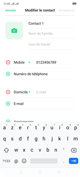 Oppo Reno 2 - Contact, Appels, SMS/MMS - Ajouter un contact - Étape 10