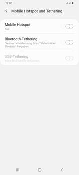 Samsung Galaxy S20 Plus 5G - WiFi - So aktivieren Sie einen WLAN-Hotspot - Schritt 6