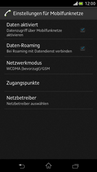 Sony Xperia V - Internet und Datenroaming - Deaktivieren von Datenroaming - Schritt 6