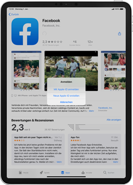Apple iPad 9.7 (2017) - iPadOS 13 - Apps - Einrichten des App Stores - Schritt 8