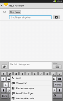 Samsung Galaxy Note 8-0 - MMS - Erstellen und senden - 12 / 24