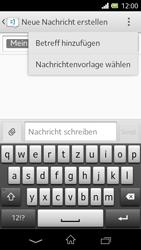 Sony Xperia L - MMS - Erstellen und senden - 0 / 0
