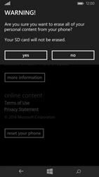 Microsoft Lumia 535 - Mobile phone - Resetting to factory settings - Step 8