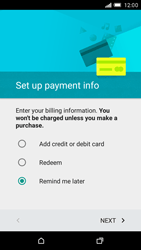 HTC One M9 - Applications - Setting up the application store - Step 15
