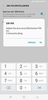 Samsung Galaxy S8 Plus - Datenschutz und Sicherheit - PIN-Code der SIM-Karte ändern - 9 / 12