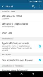 HTC Desire 626 - Sécuriser votre mobile - Activer le code de verrouillage - Étape 12