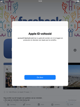 Apple ipad-air-met-ios-11-model-a1475 - Applicaties - Account aanmaken - Stap 20