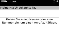 BlackBerry Bold - Anrufe - Rufumleitungen setzen und löschen - 3 / 12