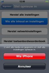 Apple iPhone 4 - Instellingen aanpassen - Fabrieksinstellingen terugzetten - Stap 6