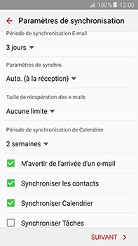 Samsung Galaxy A8 - E-mail - 032c. Email wizard - Outlook - Étape 8