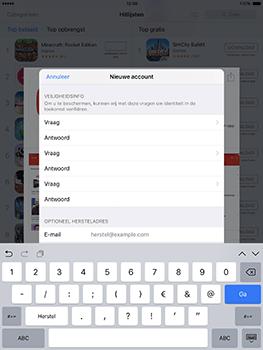 Apple ipad-pro-9-7-inch-met-ios10-model-a1674 - Applicaties - Account aanmaken - Stap 13
