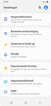 Samsung galaxy-a8-2018-sm-a530f-android-pie - Instellingen aanpassen - Back-up maken in je account - Stap 4